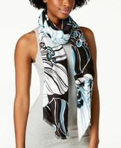 Calvin Klein Graphic Floral-Print Soft Scarf & Wrap (Black) - $29.58