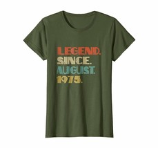 Brother Shirts - Vintage Lengend Since 1975 Birthday Born in August Shirt Wowen - $19.95+