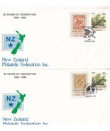 50 Years Of Federation Kakapo Bird Different Stamps 2x FDC - $5.99