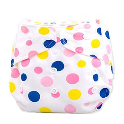 2 Pcs Leak Proof Dot Pattern Breathable Waterproof Infant Baby Diaper