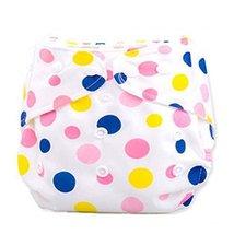 2 Pcs Leak Proof Dot Pattern Breathable Waterproof Infant Baby Diaper