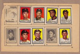 LOT OF 7: 1962 Topps stamps Washington Senators on album page - $6.95