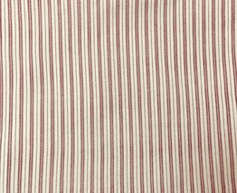 "COTTON FABRIC, FABRIC TRADITIONS, RED & OFF WHITE STRIPE, 34"" X 43"" WIDE... - $7.92"