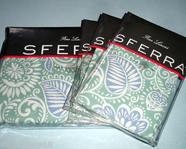 Sferra RESSA Queen Duvet Cover 4 PC Set Aqua/Cornflower Blue Cotton Perc... - $338.90