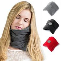 Travel Pillow Soft Neck Support Sitting Sleep Flight Nap Scarf Portable ... - $326,25 MXN
