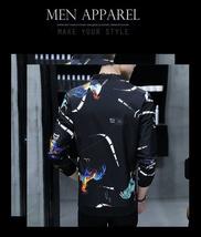 2018 Spring and Autumn New Fashion Men's Slim Fit Black Jacket Men's Printing Br image 10