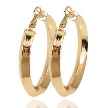 50mm Diameter Copper Hoop Earrings Fashion Circular Statement Big Earrin... - $10.03