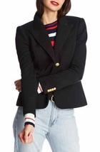 COURT AND ROWE Contrast Detail Piqué Ponte Blazer 8 Rich Black NEW - $84.13