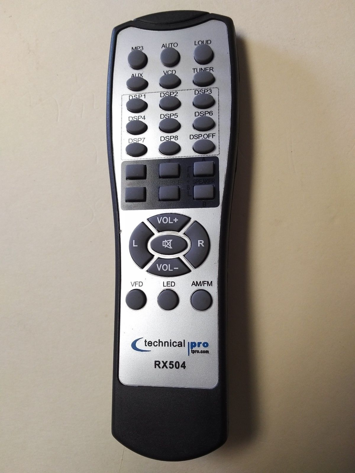 Original Technical Pro REMOTE CONTROL for RX503 RX504 and others