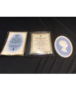 Vintage Wedgwood Blue & White Jasper HRH Princess Margaret Portrait Meda... - $49.99