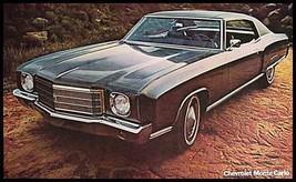 1970 Chevy Monte Carlo Brochure Poster MINT, Original GM 70 - $5.04