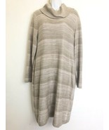 calvin klein cowl neck tan Long Sleeve sweater dress womens size XL - $29.69