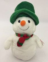 """2006 Ty Pluffies Mr. Snow Plush With Tag 8"""" Snowman Hat Scarf - $17.81"""