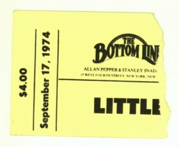 Little Feat & The Deadly Nightshades 9/17/74 NYC NY Bottom Line Ticket S... - $11.87