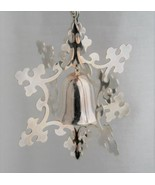 Reed & Barton Third Edition 1985 Silverplate Snowflake Bell Ornament - $24.00