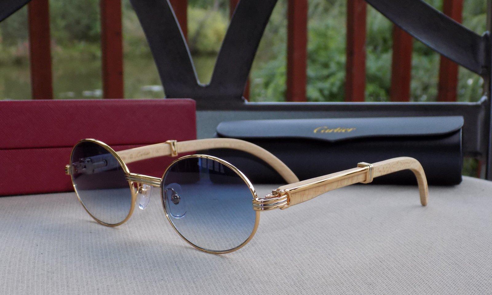 40db00102af1 Dscn3307. Dscn3307. Previous. Cartier Smooth Tulip Whitewood Blue Lens Buffalo  C Décor Sunglasses