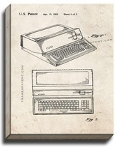 Apple Personal Computer Patent Print Old Look on Canvas - $39.95+
