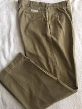 Ralph Lauren Chino Khaki Pleated Front Pants 36X32 - $12.99