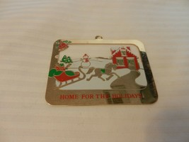 Duchin Home For The Holidays 1990 Flat Gold Tone Metal Ornament Sleigh &... - $11.14