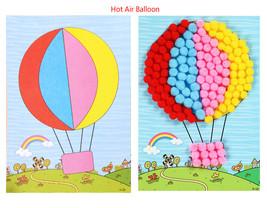 1 Pcs Creative DIY Baby Kids Plush Ball Painting Stickers Children Educa... - $18.32
