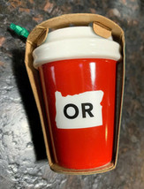 New Cup Starbucks 2016 Oregon OR Holiday Ornament NEW! - $15.72