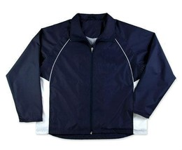 NEW GAME SPORTSWEAR LTD 3600Y YOUTH TITAN JACKET NAVY/WHITE SIZE YOUTH S... - $29.99