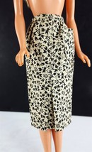 Barbie PAK Black/White Print Sheath Skirt 1962 Original Clothing - $8.91