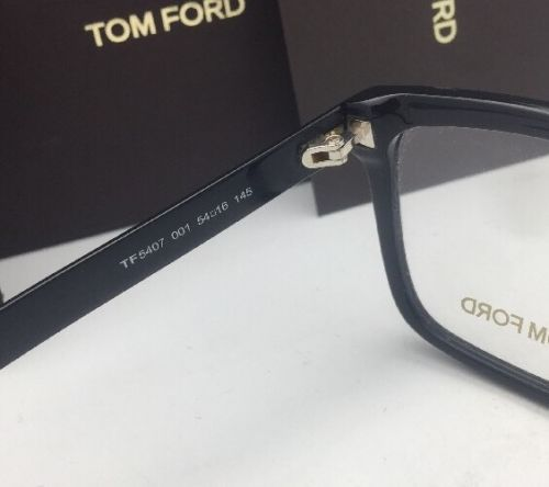 2b6faa233a Brand New TOM FORD Eyeglasses TF 5407 001 54-16 Shiny Black Rectangular  Frames