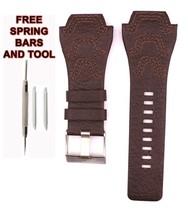 24mm Braun Leder Armbanduhr Band Armband Passend für Diesel DZ1267 Uhren... - $38.32
