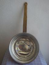 PRETZEL Vintage Handmade Greek Embossed COPPER  Pan w Long handle Mold Tin Lined image 4