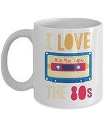 I Love The 80s Mix Cassette Tape Distressed Coffee & Tea Gift Mug, 80 s ... - $13.71