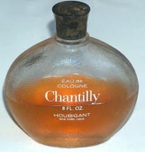 Vintage Chantilly Houbigant New York Eau de Cologne 8 oz Frost Bottle Half Full - $29.70