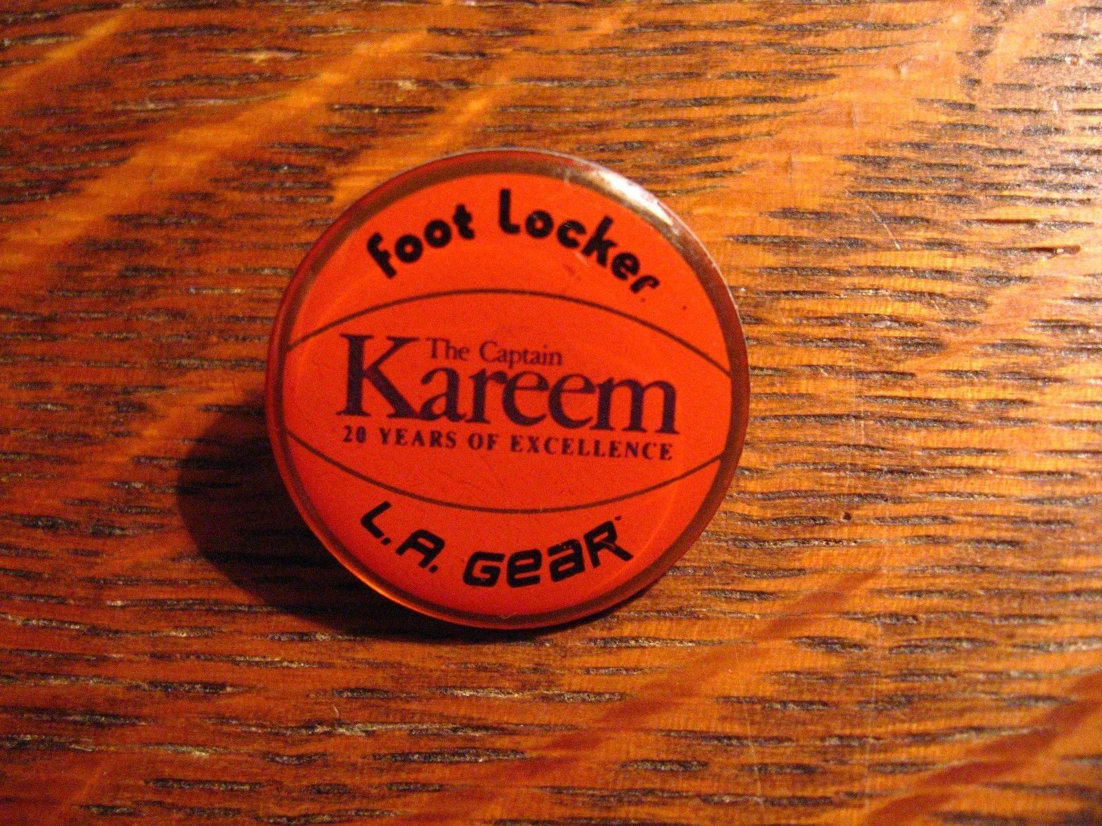 Kareem Abdul Jabbar Pin de Solapa - Vintage L. A. Gear Pie Armario Baloncesto