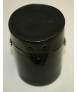 Vintage Black Leather Canon Lens Case With Original Padding - $12.86