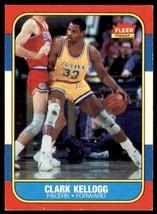 1986-87 Fleer Basketball Premier Clark Kellogg Indiana Pacers #58 - $0.50