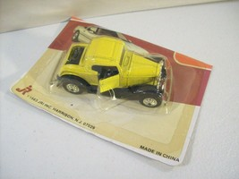 Vintage Jri Road Champs Model A Ford Die Cast Car 1983 Sealed Card Bottom Yellow - $8.77