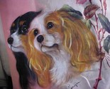 CAVALIER KING CHARLES HAND PAINTED PILLOW JUST FANTASTIC! - £229.27 GBP