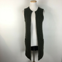 Ralph Lauren Black Label Women's Olive Green Hand Knit Sweater Vest Size XS - $54.44