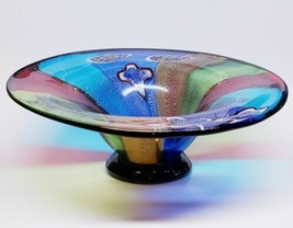 "Murano Style Art Fruit Display - Stunning Center Piece Bowl Large 18"" Art HEAVY! - $187.99"