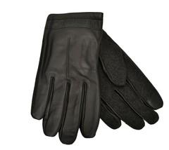Designer Calvin Klein mens Leather Gloves Medium Black - $54.45
