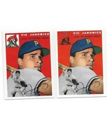 1954 Topps Archives Pittsburgh Pirates Vic Janowicz #9 Gold & Regular 2C... - $1.28