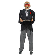 LIFESIZE 72'' Animated Talking Halloween Candy Butler Prop with Lights &... - €121,77 EUR