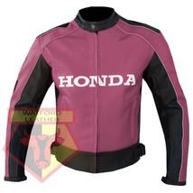 HONDA 5523 PINK MOTORCYCLE MOTORBIKE ARMOURED COWHIDE LEATHER JACKET FOR... - $194.99