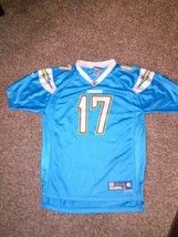 Nfl Chargers Reebok On Field Jersey Size Large #17 - $22.23