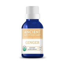 Ginger Organic Essential Oil from Ancient Apothecary, 15 mL - 100% Pure and Ther