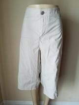 Lane Bryant Women's Pants Light Khaki Cropped Capri Cotton Blend Size 28 - $18.74