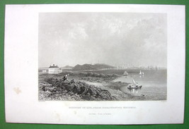 BOSTON in 1774 - 1860s Antique Print - $14.85