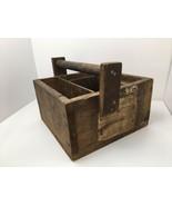 Primitive Railroad Wood Tool Box Caddy Railway Express Agency Label Earl... - $200.43