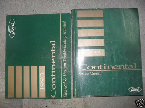 1993 LINCOLN CONTINENTAL Service Shop Workshop Manual Set FACTORY W EWD