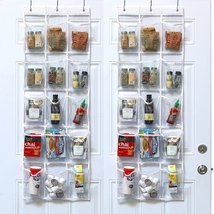 30 Pack - Clear Crystal Over Door Hanging Pantry Organizer - $15.00